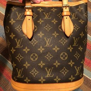 Vintage Louis Vuitton Monogram Tote Bucket Purse
